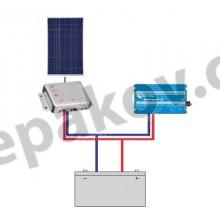 100Wp 12Vdc / 230Vac off-grid set